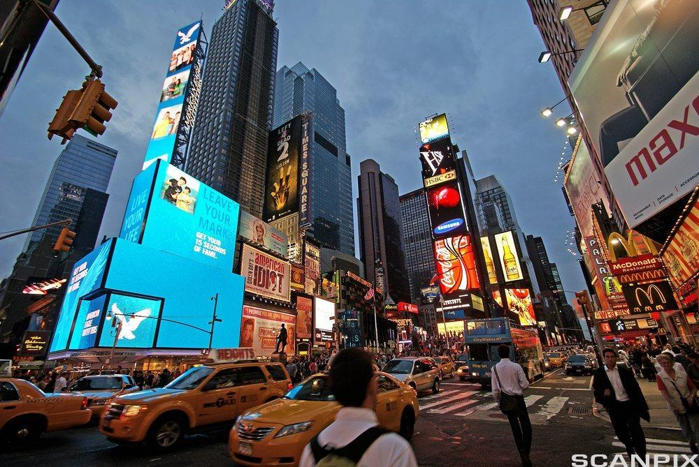 Times Square, New York City. Foto.