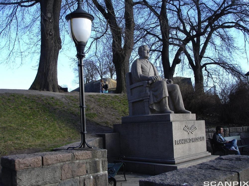 Memorial statue in Oslo, Norway