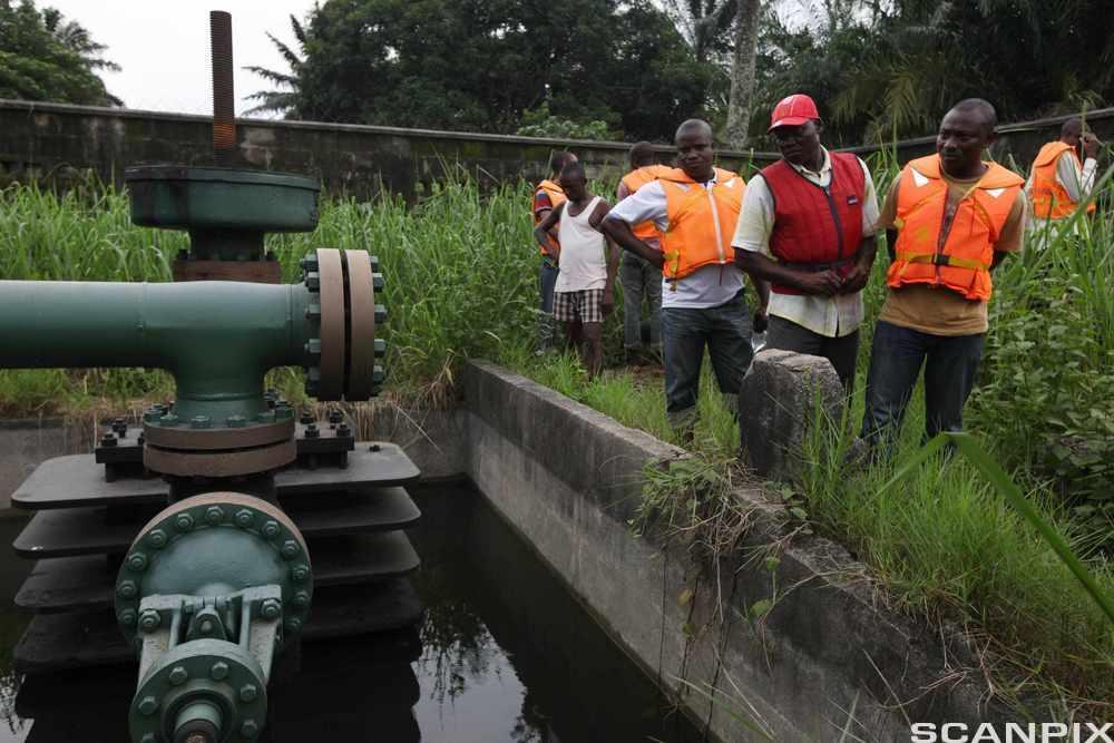 Oil Pipe Manifold in Niger Delta Region