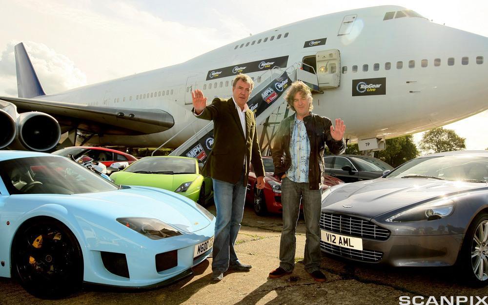 Top Gear. Jeremy Clarkson og James May. Foto.