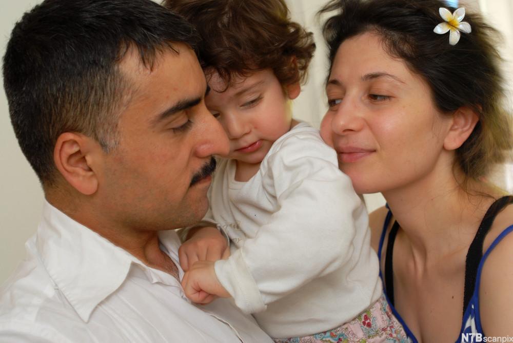 Kurdisk familie. Foto.