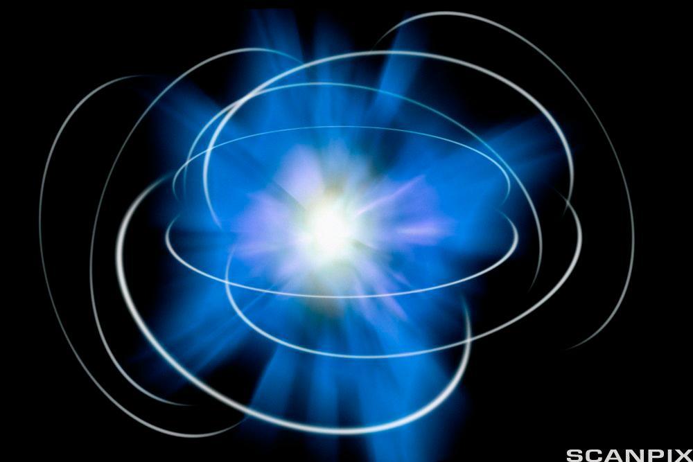 Atom. Illustrasjon.