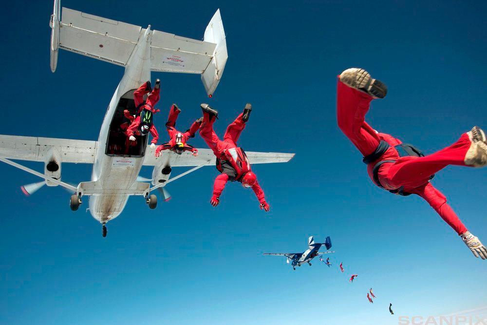 Å hoppe i fallskjerm