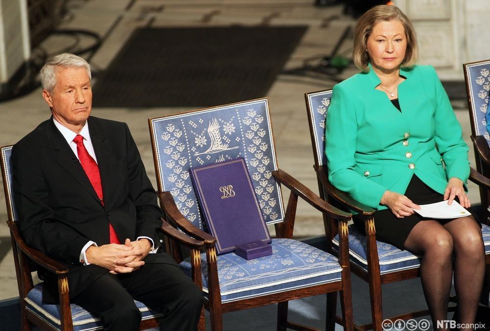 En tom stol representerte Liu Xiaobo under fredsprisutdelingen i Oslo i 2010.