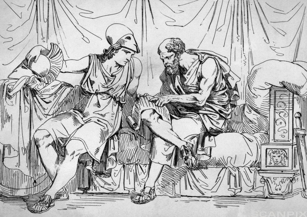 Sokrates og Alkibiades. Illustrasjon.