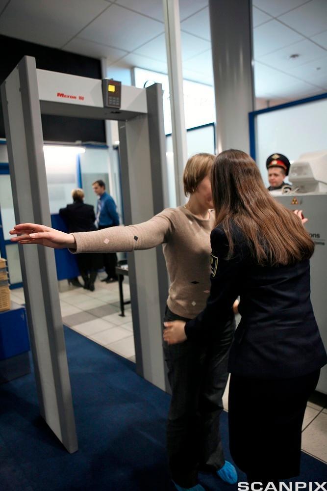 Sikkerhetskontroll på flyplass