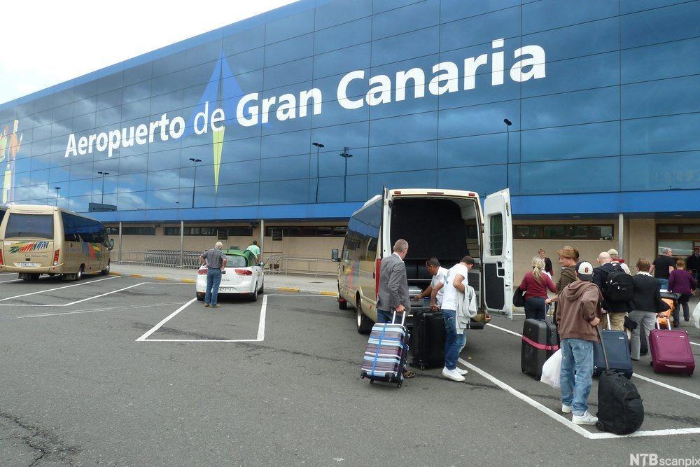 Flyplassen ved Las Palmas på Gran Canaria