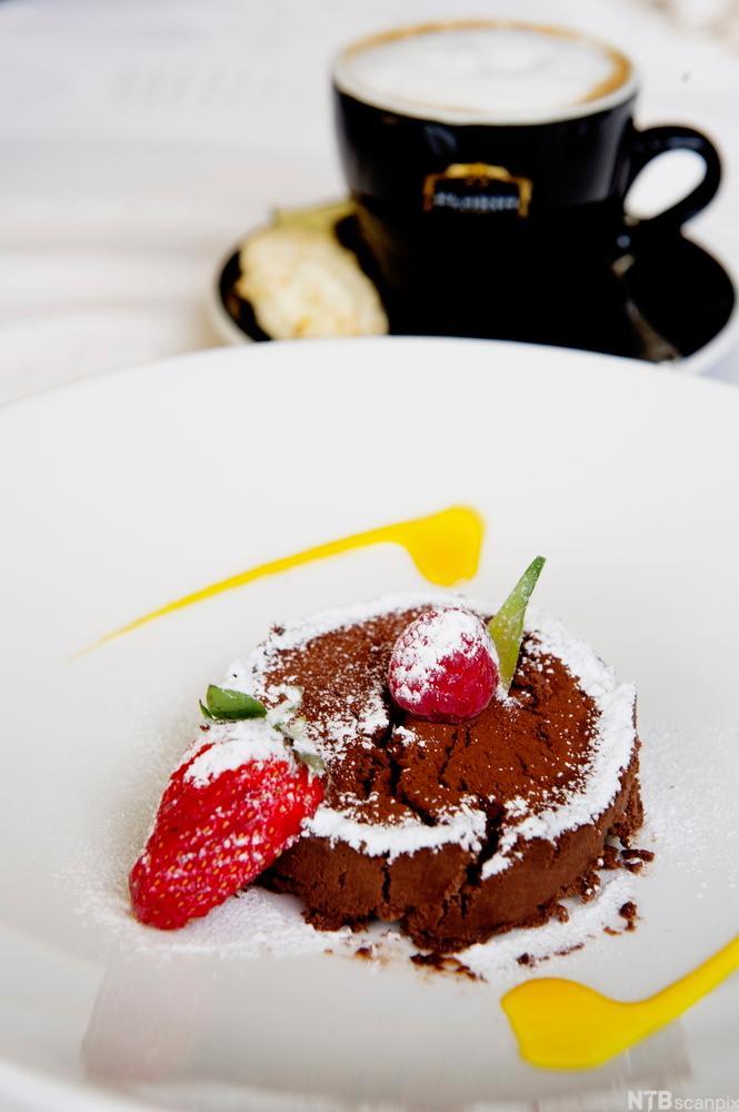 Sjokolademousse. Foto.