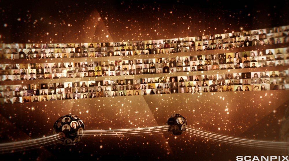 """Eric Whitacres """"Virtual Choir"""" - et kollektivt performance-prosjekt på Internett."""