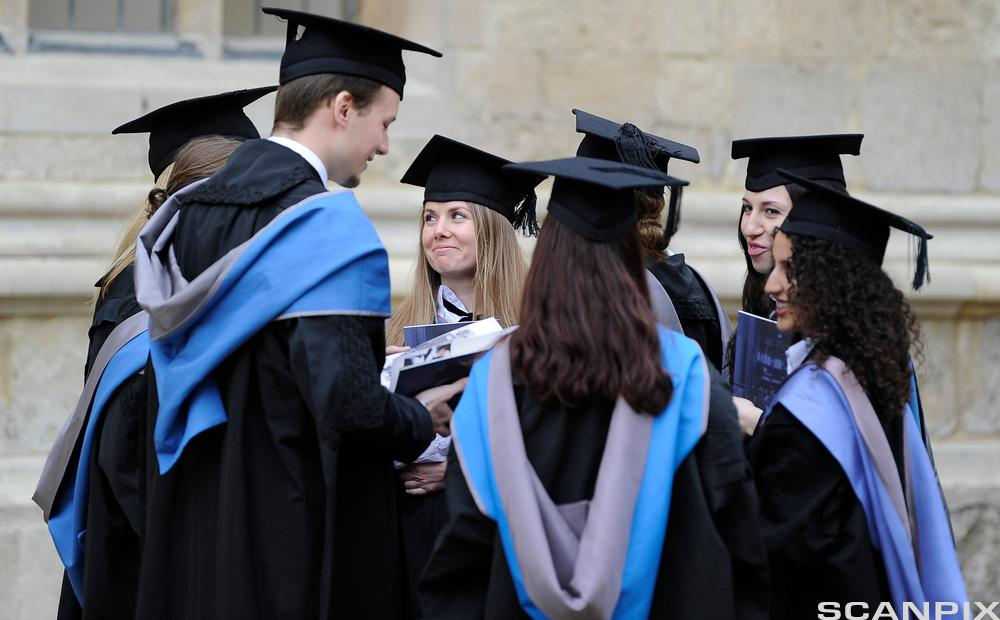 Graduates after a graduation ceremony at Oxford University, England