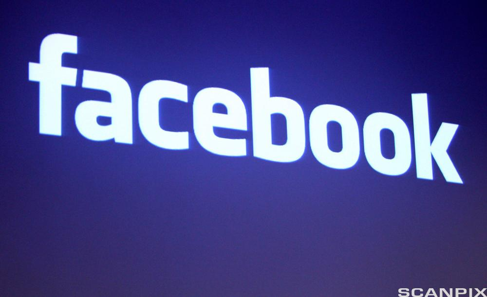 Facebook logo. Foto.