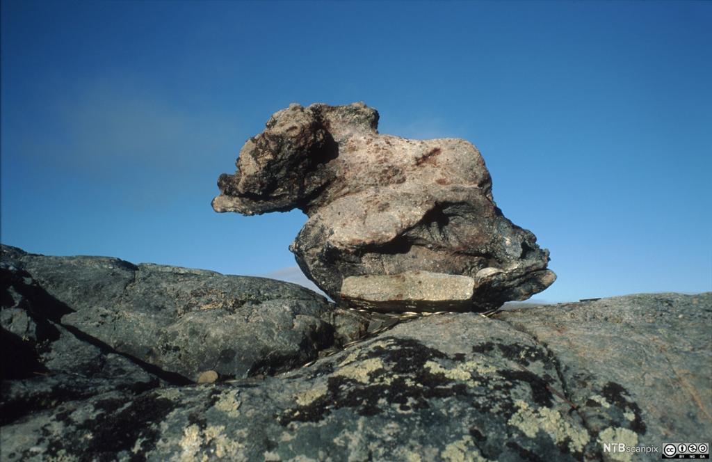 En Sieidi, en samisk offerstein på Finnmarksvidda. Foto