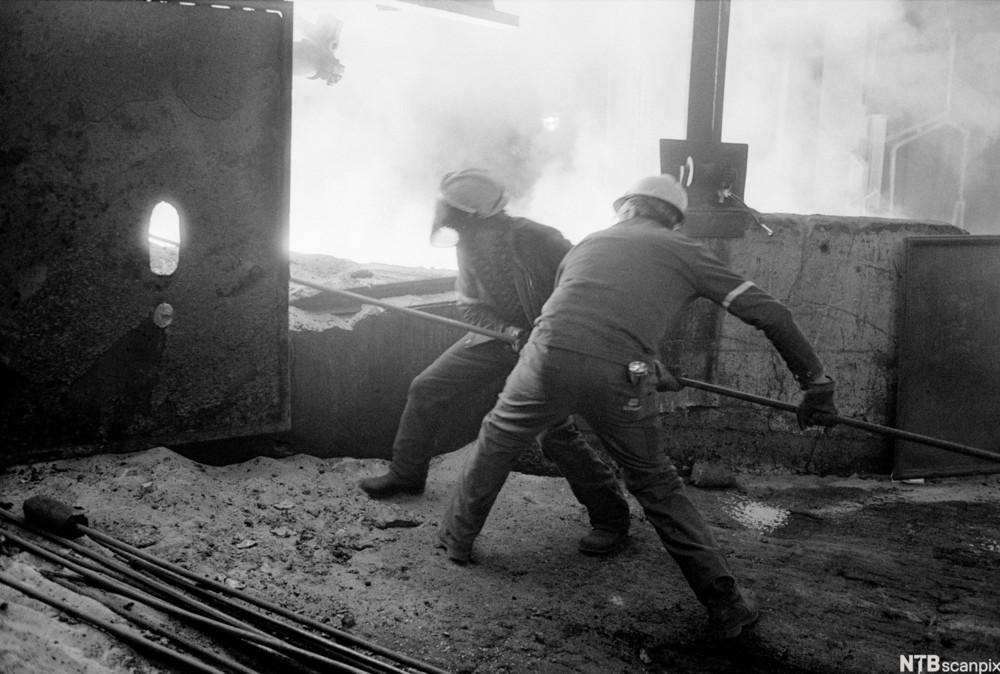 Arbeidere ved Sauda Smelteverk