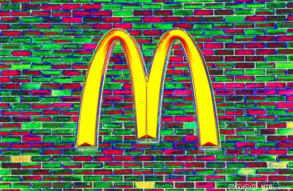Logoen til McDonalds kjeden. Foto.