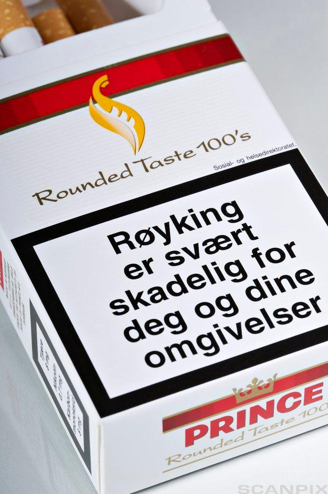En pakke sigaretter med helseadvarsel