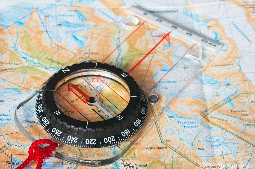 Kart og kompass. Foto
