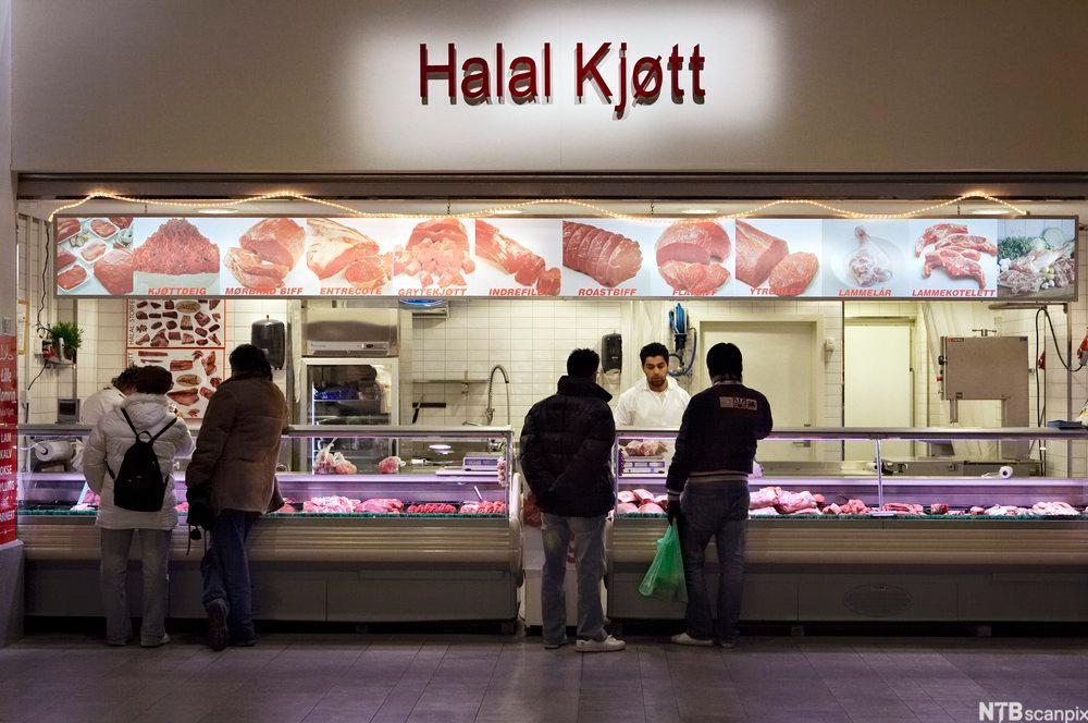 Bilde av et utsalgsted for halal kjøtt