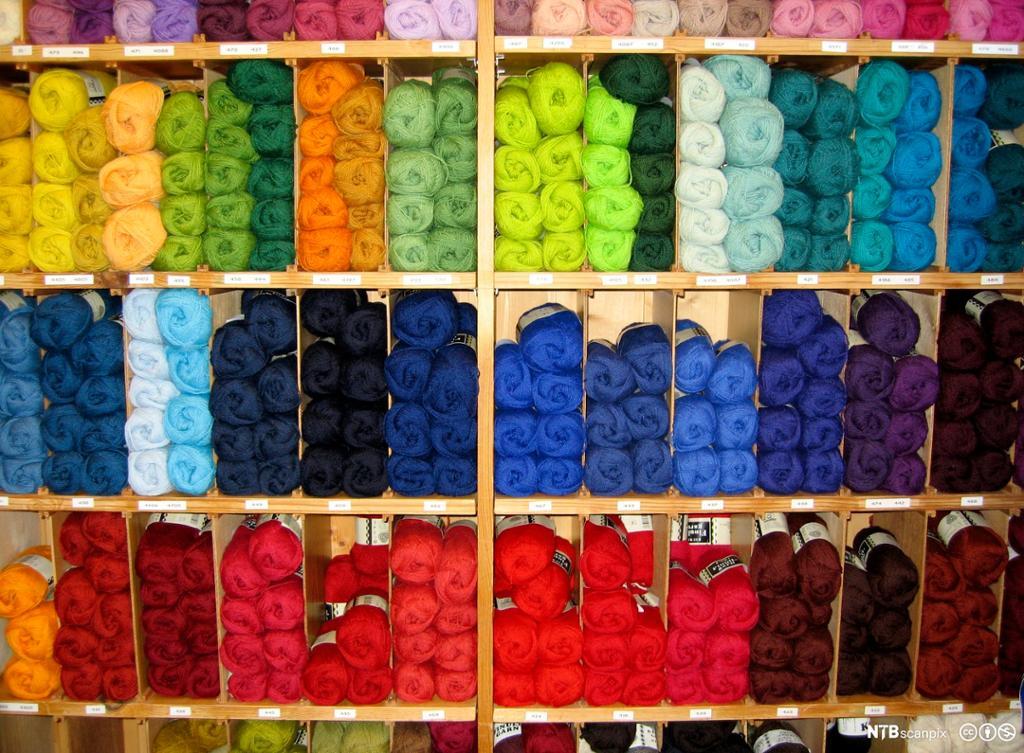 Garnnøster i mange farger