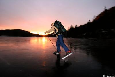 Å ferdes på isen