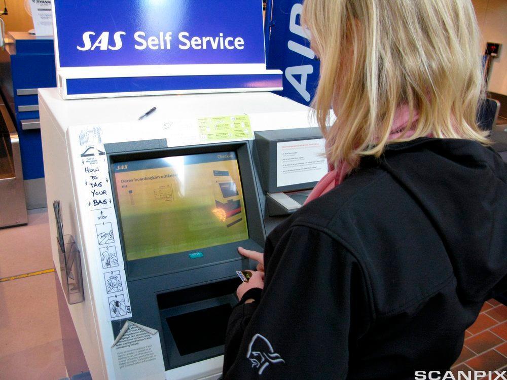 Billettautomat på flyplass