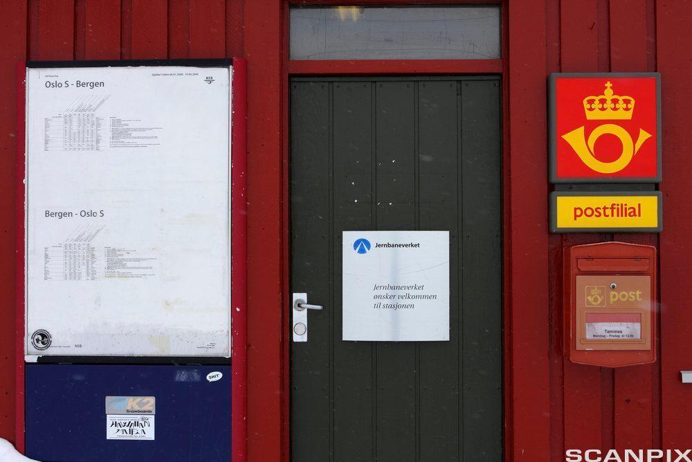 Postfilial på Finse. Foto.