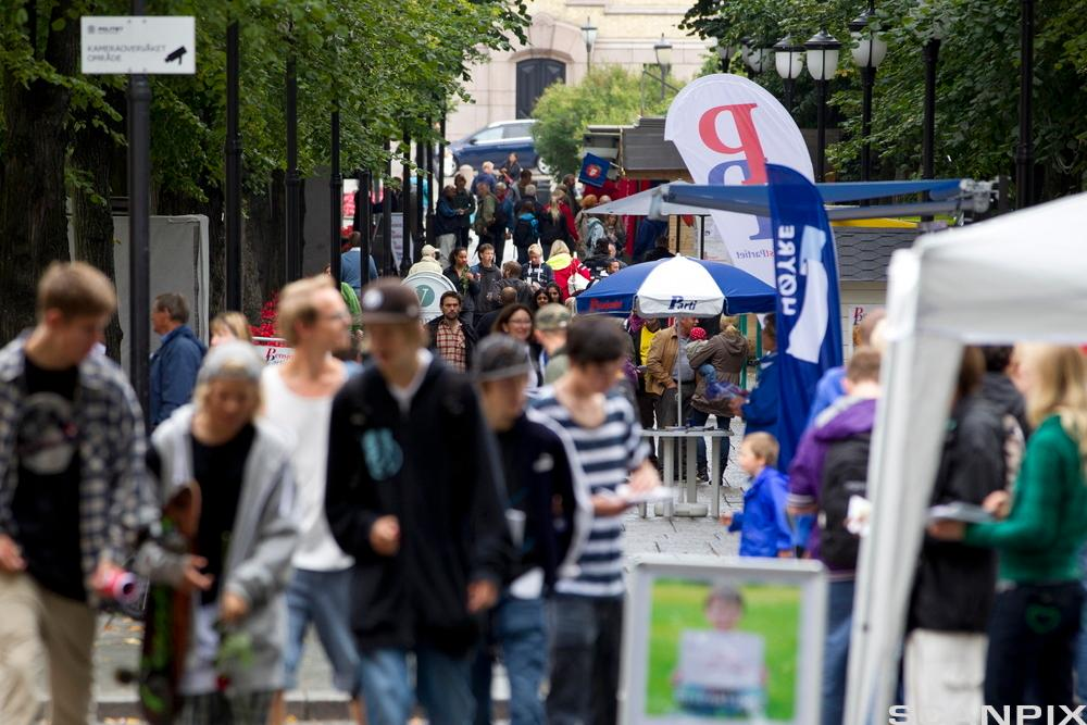 Valgkamp i Oslo 2011. Foto.