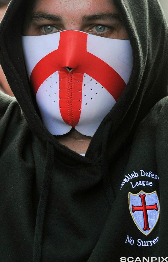 A Demonstrator from the English Defence League (EDL)