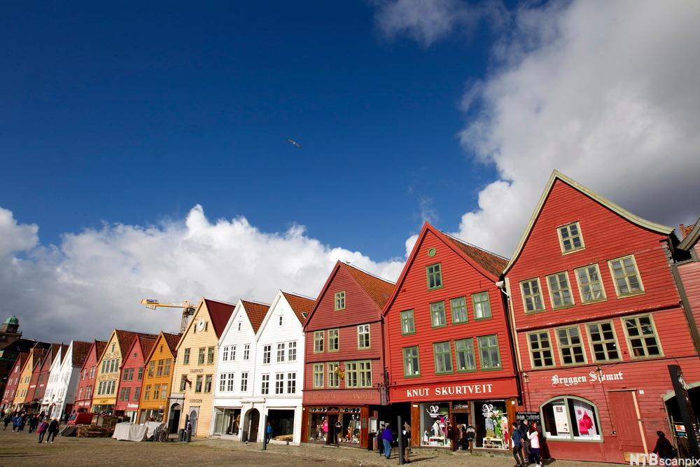 Bryggen i Bergen. Foto.
