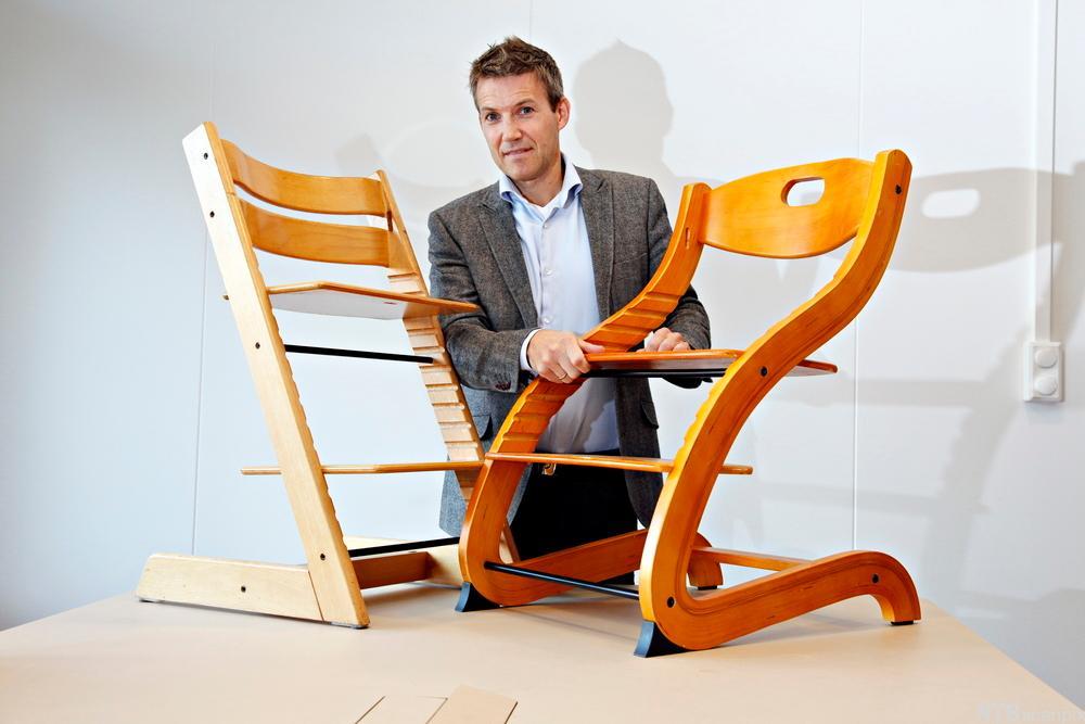 Bilde av Norgesgruppens markedsdirektør Truls Fjeldstad, anker tripp-trapp-dommen som sier at de kopierte Stokkes Tripp Trapp-stol.