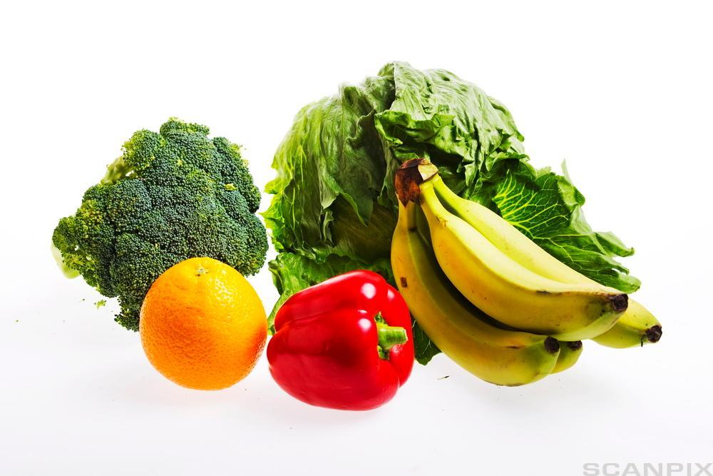 forskjellige typer frukt og grønnsaker. Foto