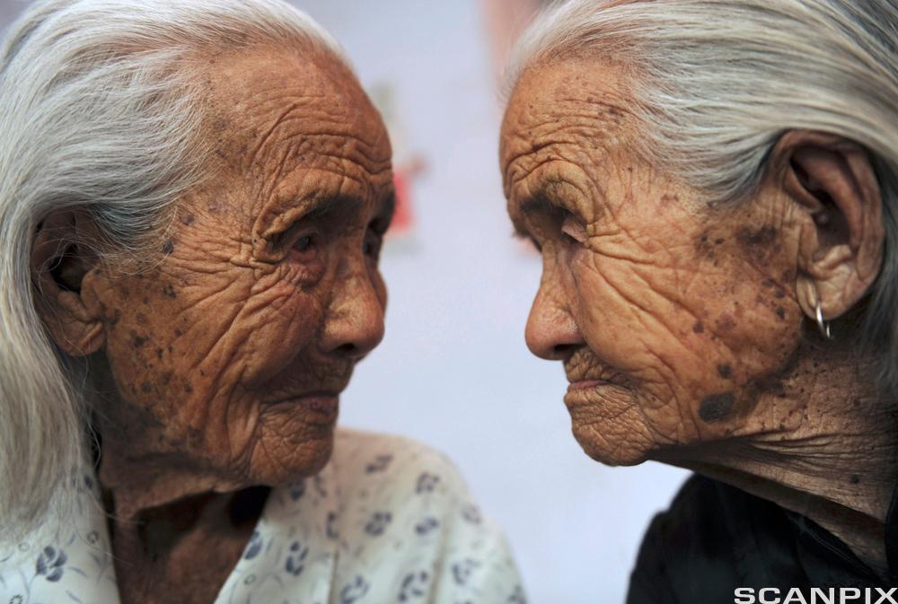 104 år gamle kinesiske tvillinger