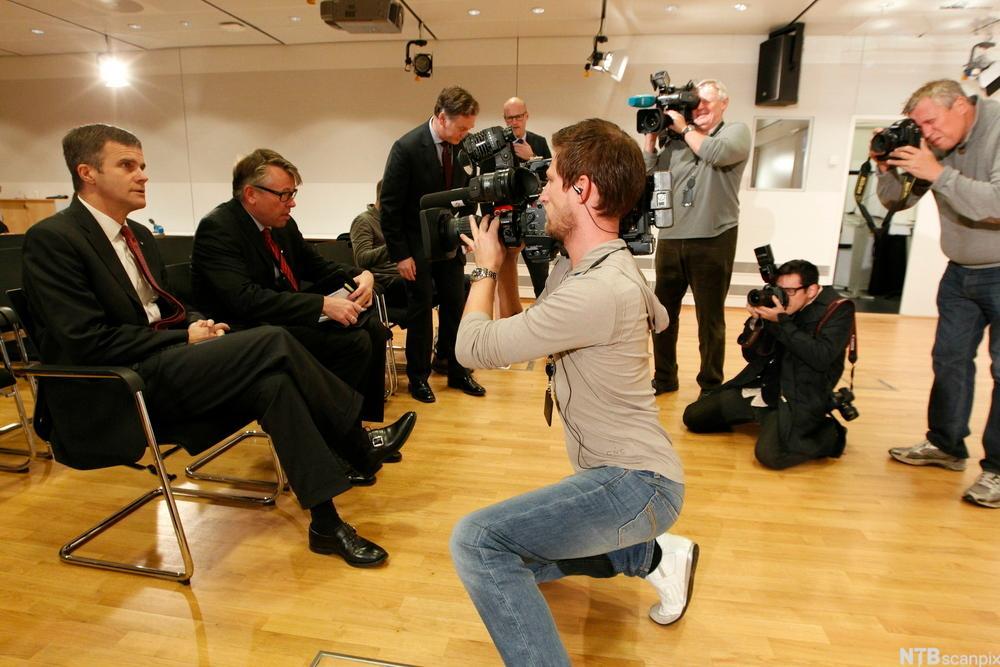 Pressefotografer på jobb. Foto.