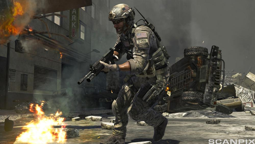 Scene fra dataspillet Call of Duty: Modern Warfare 3.