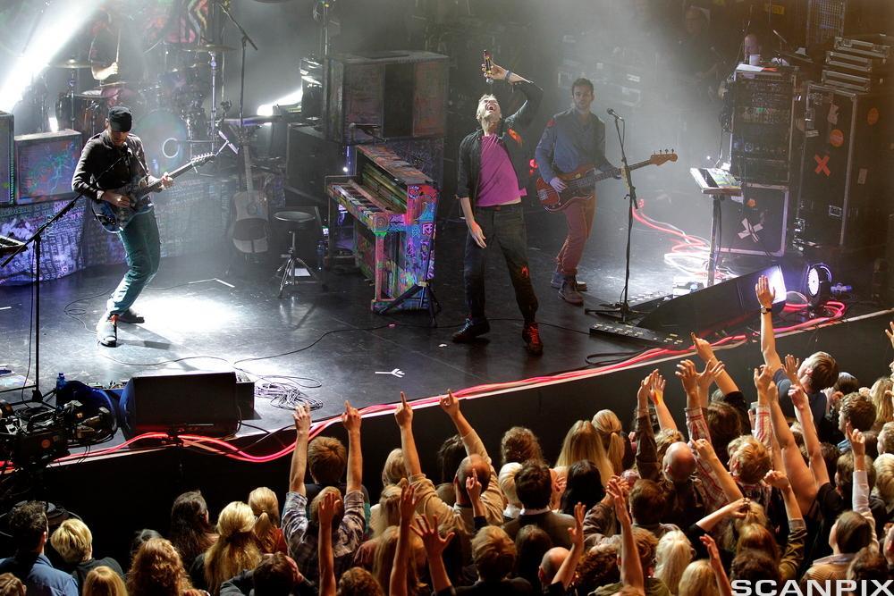 Konsert med Coldplay. Foto.