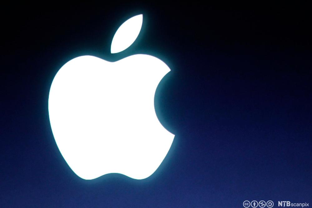 Apple logo. Bilde.