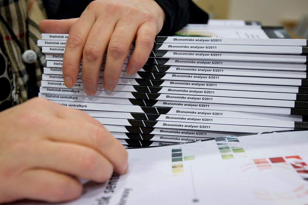 Stabel med bøker om statistikk. Foto