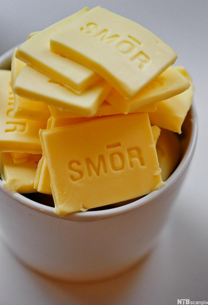 Bilde av smør. Foto.
