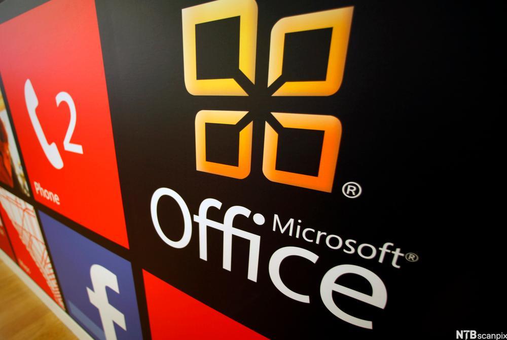 Logo til Microsoft Office. Foto.
