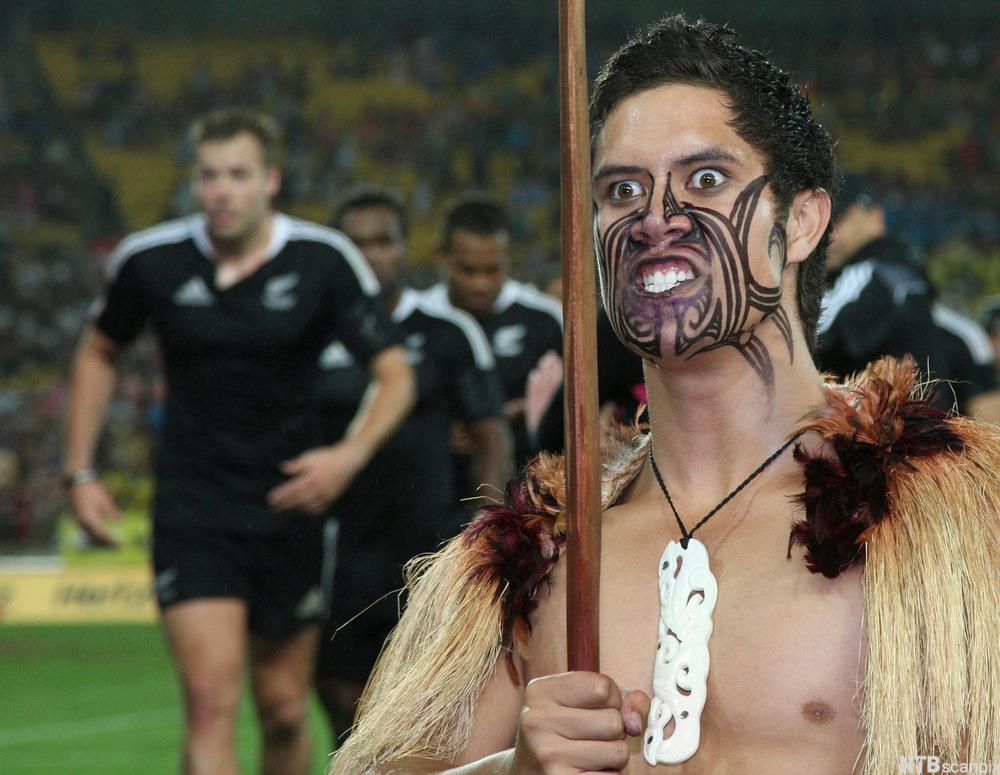 Maori Warrior and All Blacks Rugby Team
