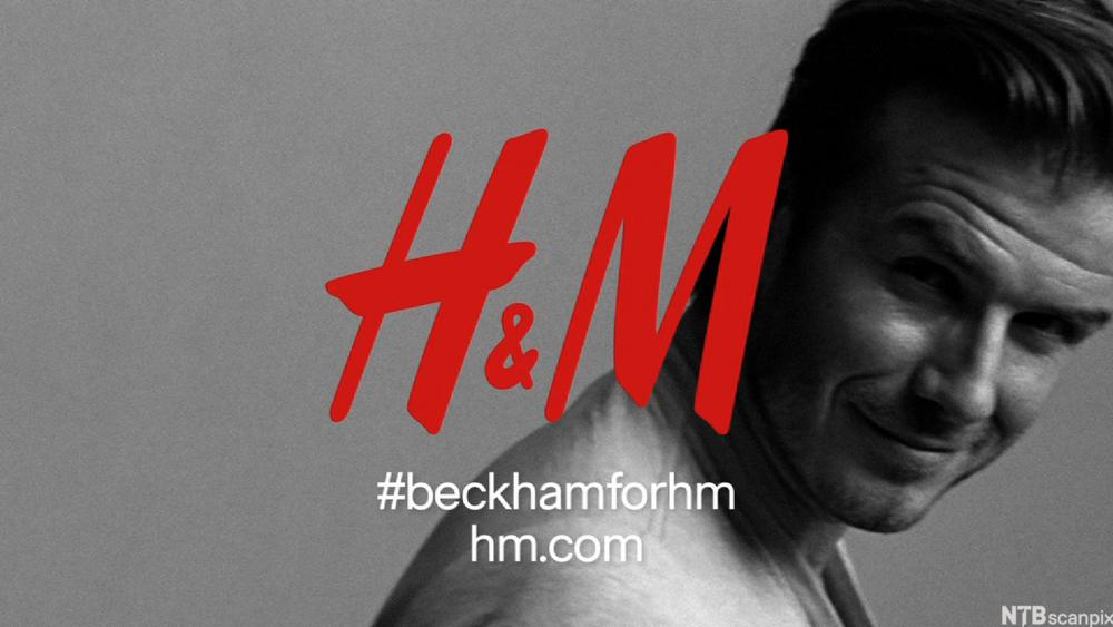 Reklameplakat for H&M. Foto.