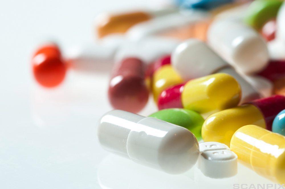 Samling av ulike tabletter.foto.