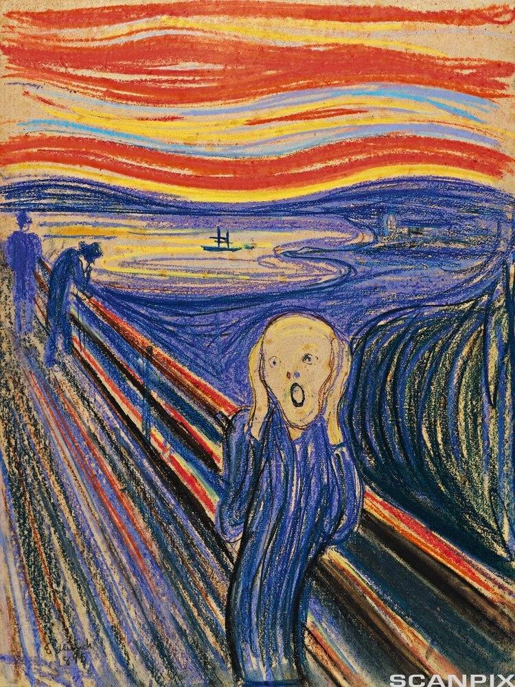 """""""Skrik"""" av Edvard Munch. Maleri."""