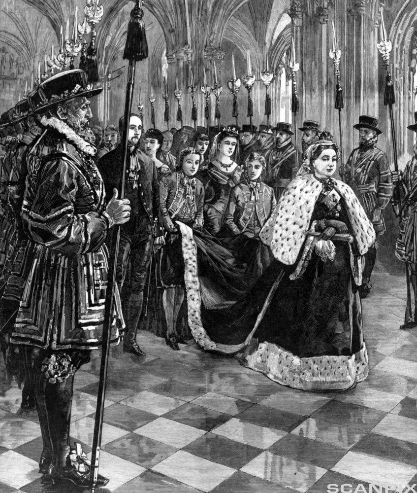 Queen Victoria at her coronation in 1837