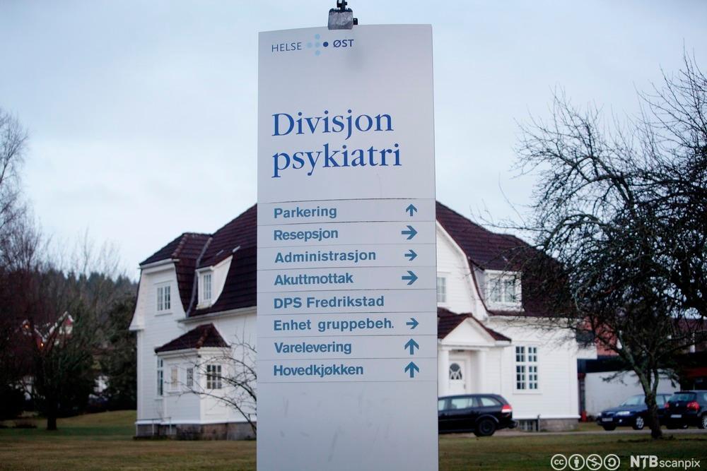 Veum psykiatriske sykehus i Fredrikstad. Foto.