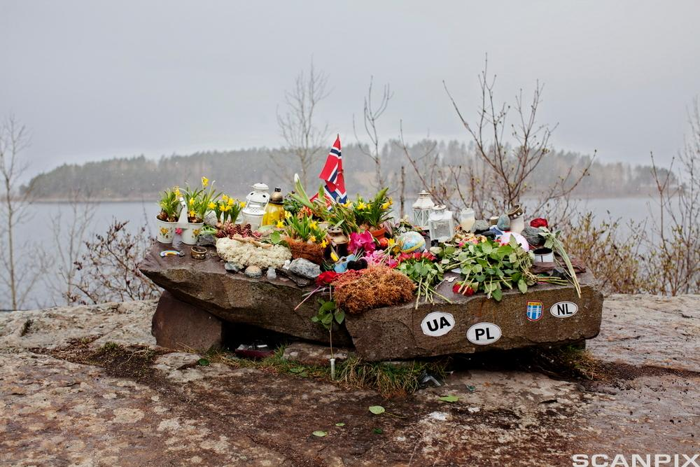 Flowers to Commemorate the Victims of 22 July Massacre