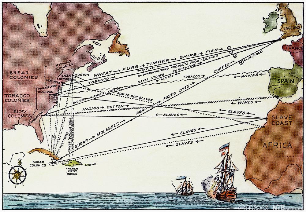 kart trekanthandelen