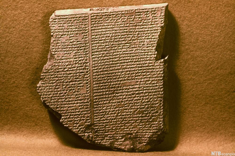 Steintavler med historien om Gilgamesj