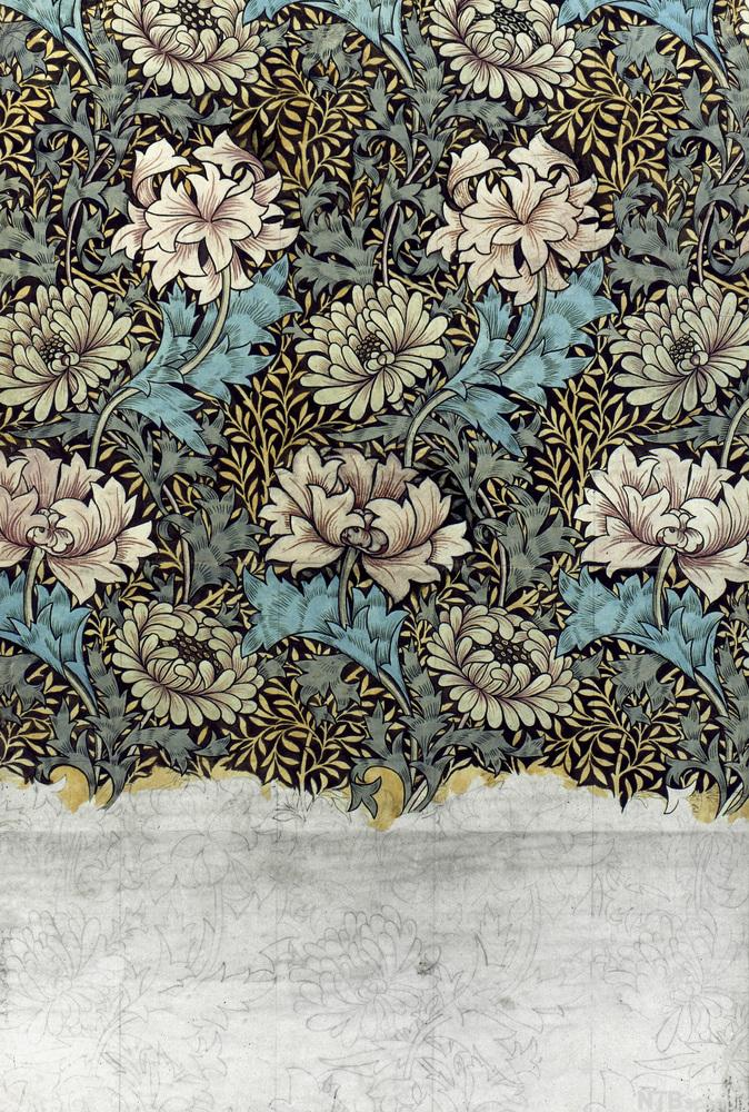 Tapet designet av William Morris i 1876.