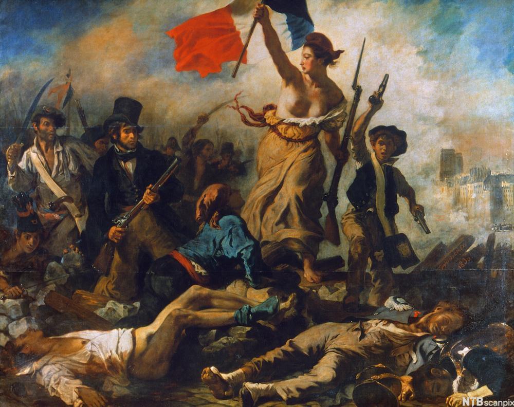 Friheten leder folket. Maleri.