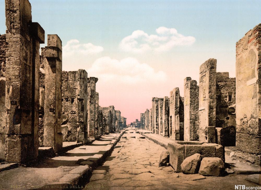 Ruiner i Pompeii. Foto.